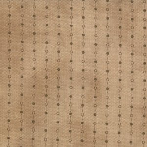 Primitive Gatherings Seasonal Little Gatherings Fabric - Dotted Stripe - Time Worn (1060 11)