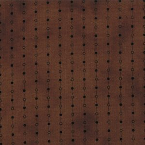 Primitive Gatherings Seasonal Little Gatherings Fabric - Dotted Stripe - Walnut (1060 14)