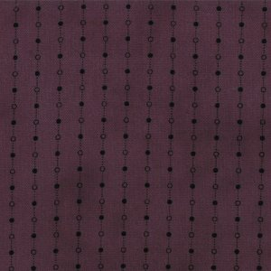 Primitive Gatherings Seasonal Little Gatherings Fabric - Dotted Stripe - Grape (1060 25)