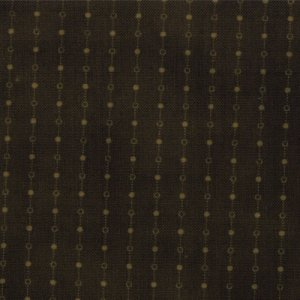 Primitive Gatherings Seasonal Little Gatherings Fabric - Dotted Stripe - Hunter (1060 26)