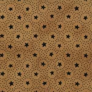 Primitive Gatherings Seasonal Little Gatherings Fabric - Circles and Stars - Honey (1061 12)