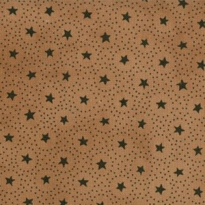 Primitive Gatherings Seasonal Little Gatherings Fabric - Circles and Stars - Treenware (1061 31)