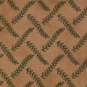 Primitive Gatherings Seasonal Little Gatherings Fabric - Wavy Holly Vines - Treenware (1062 31)