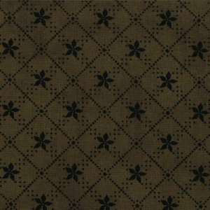 Primitive Gatherings Seasonal Little Gatherings Fabric - Poinsettia - Pine (1063 37)