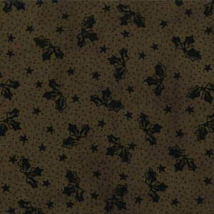 Primitive Gatherings Seasonal Little Gatherings Fabric - Holly Leaves - Pine (1066 37)