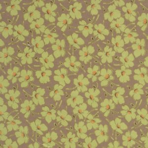 Amy Butler Gypsy Caravan Fabric - Wind Flowers - Moss