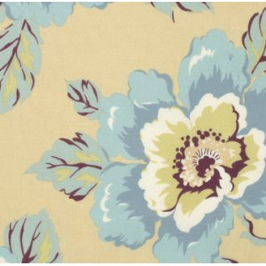 Amy Butler Gypsy Caravan Fabric - Wild Poppy - Milk