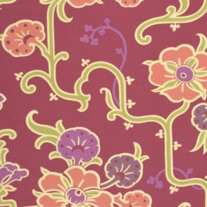 Amy Butler Gypsy Caravan Fabric - Velvet Vine - Grape