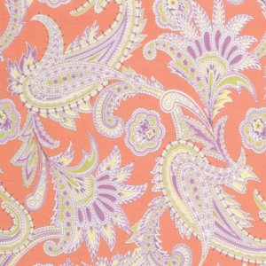 Amy Butler Gypsy Caravan Fabric - Turkish Paisley - Nectarine