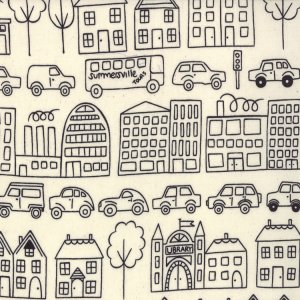 Lucie Summers Summersville Fabric - Town - Coal (31700 11)