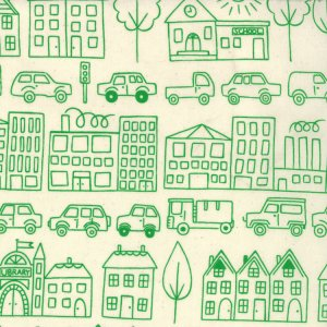 Lucie Summers Summersville Fabric - Town - Leaf (31700 15)