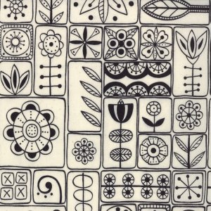 Lucie Summers Summersville Fabric - Scandi - Coal (31701 11)