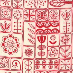 Lucie Summers Summersville Fabric - Scandi - London Bus Red (31701 12)