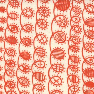 Lucie Summers Summersville Fabric - Twist - Orange Zest (31705 13)