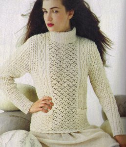 Filatura di Crosa Zara Cabled Pullover Kit - Women's Pullovers