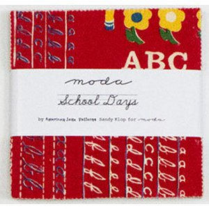 American Jane School Days Precuts Fabric - Charm Pack