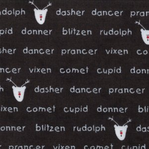 Sweetwater Countdown to Christmas Fabric - Reindeer Games - Coal (5457 14)