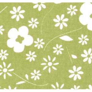 Sweetwater Make Life Canvas Fabric - Green Flower (54920 12)