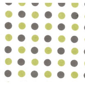 Sweetwater Make Life Canvas Fabric - Green Dots (54920 14)
