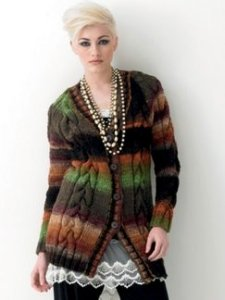 Noro Hitsuji Cabled Cardigan Kit - Women's Cardigans