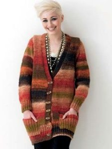 Noro Hitsuji Jacket with Rib Pockets Kit - Women's Cardigans