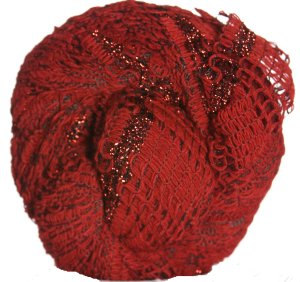 Berroco Lacey Metallic Yarn - 8355 True Red