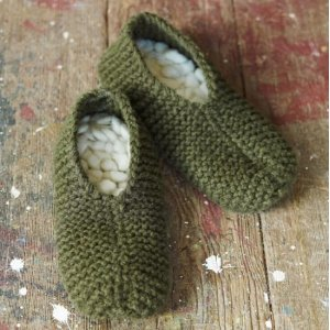 Imperial Yarn Patterns - Retro Thrum Slippers Pattern