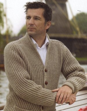 Cascade 220 Heathers Book Exchange Cardigan Kit - Mens Cardigans