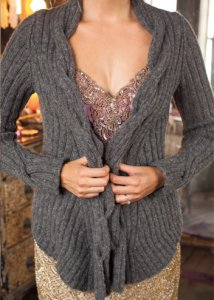 Berroco Flicker Ribbed Cardigan Kit - Women's Cardigans