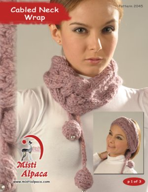 Misti Alpaca Best of Nature Chunky Cabled Neck Wrap Kit - Scarf and Shawls