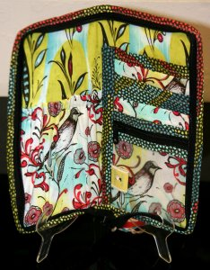 Chicken Boots Mini Knitter Case - Birds