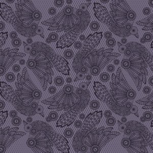 Tula Pink Nightshade Fabric - Raven Lace - Evening Shade