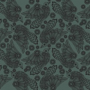 Tula Pink Nightshade Fabric - Raven Lace - Vapor