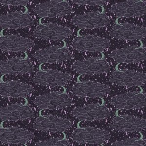 Tula Pink Nightshade Fabric - Storm Clouds - Evening Shade