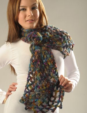 Misti Alpaca Hand Paint Chunky Knit & Crochet Scarf Kit - Scarf and Shawls