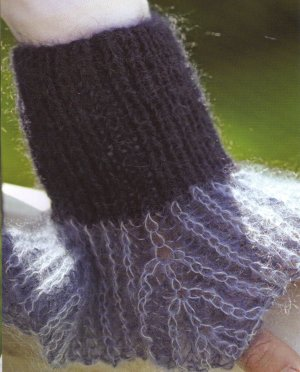Rowan Kidsilk Haze & Kid Classic Herfst Avond Wrist Cuffs Kit - Hats and Gloves