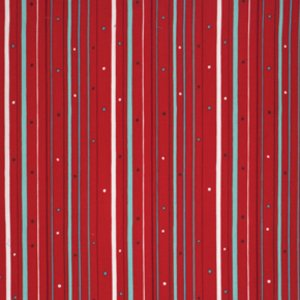 Valori Wells Wrenly Christmas Fabric - Boho Stripe - Cranberry