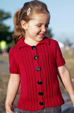 Classic Elite Chesapeake Tomboy Cardigan Kit - Baby and Kids Cardigans