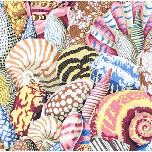 Philip Jacobs Shell Montage Fabric - Natural