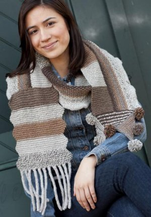 Classic Elite MountainTop Vista & Crestone Patchwork Scarf Kit - Scarf and Shawls