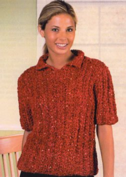 Trendsetter Yarn Patterns - 2715 - Emmy Mistake Rib Pullover Pattern