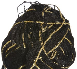 Euro Yarns Broadway Yarn - 11 Black with Gold