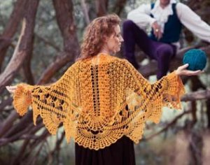 Brown Sheep Legacy Lace Icarus Shawl Kit - Crochet for Adults