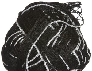 Euro Yarns Broadway Yarn - 12 Black with Silver