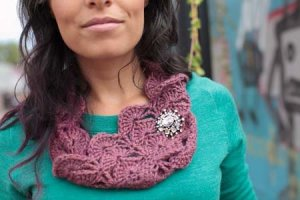 The Fibre Company Road to China Light Edie Cowl Kit - Crochet for Adults