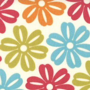 Sweetwater Lucy's Crab Shack Fabric - Aloha - Cream Multi (5484 11)