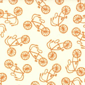 Sweetwater Lucy's Crab Shack Fabric - Cruiser - Cream Orangesicle (5487 25)