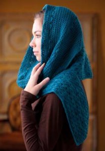 Manos del Uruguay Silk Blend Hooded Scarf Kit - Crochet for Adults