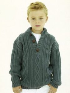 Sublime Extrafine Merino Wool DK Boris Pullover Kit - Baby and Kids Pullovers
