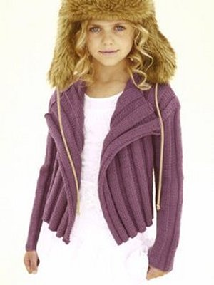 Sublime Extrafine Merino Wool DK Daisy Crockett Kit - Baby and Kids Cardigans